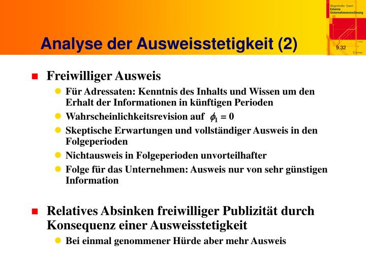 Analyse der Ausweisstetigkeit (2)