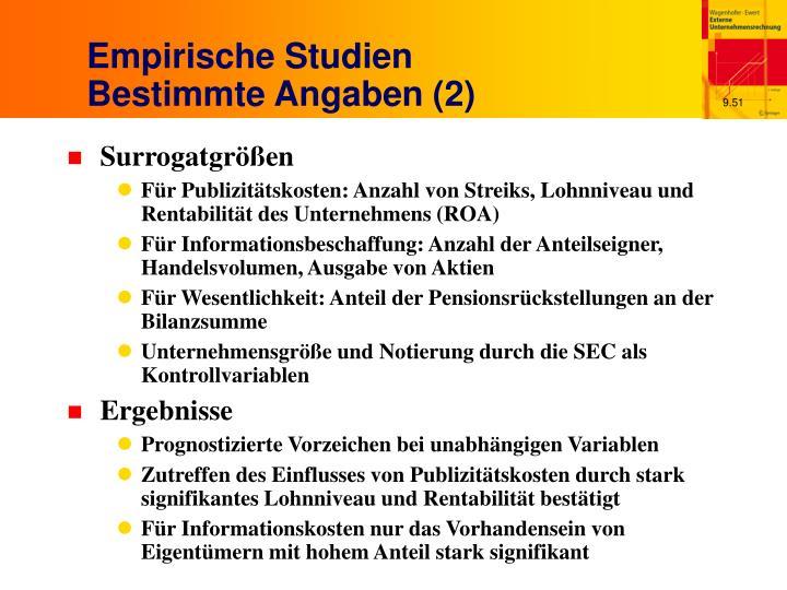 Empirische Studien