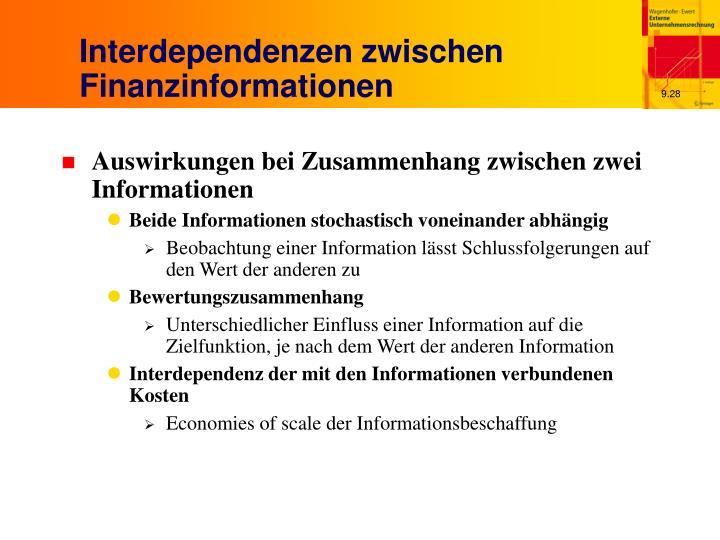 Interdependenzen zwischen Finanzinformationen