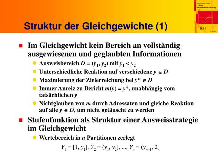 Struktur der Gleichgewichte (1)
