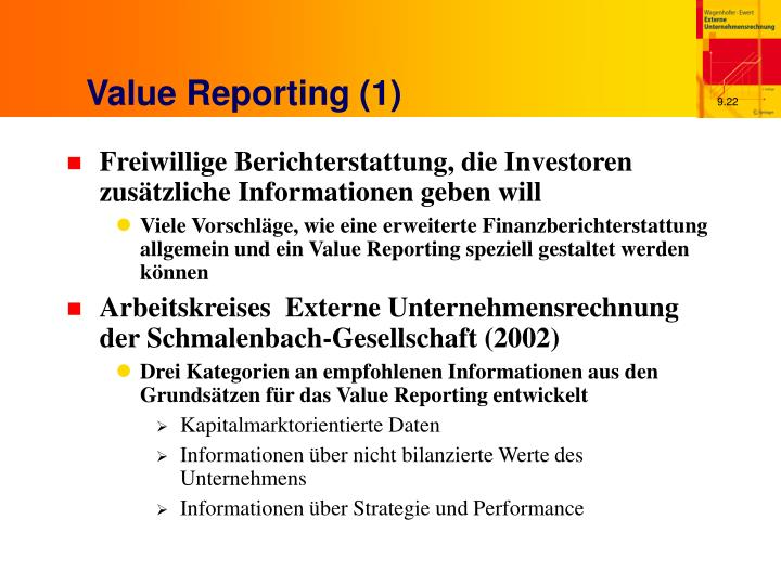 Value Reporting (1)
