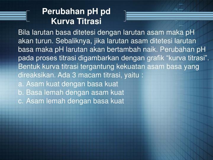 Perubahan pH pd