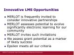 innovative lms opportunities