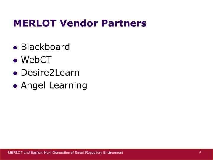 MERLOT Vendor Partners