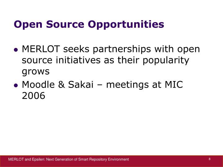 Open Source Opportunities