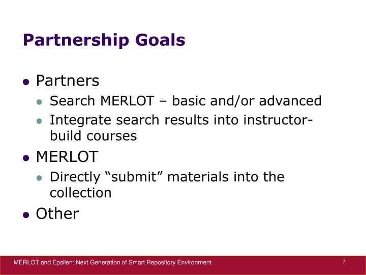 Partnership Goals