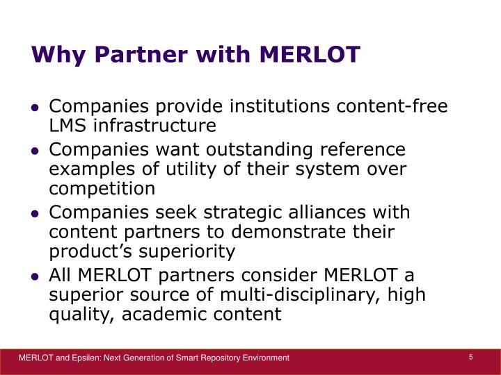 Why Partner with MERLOT