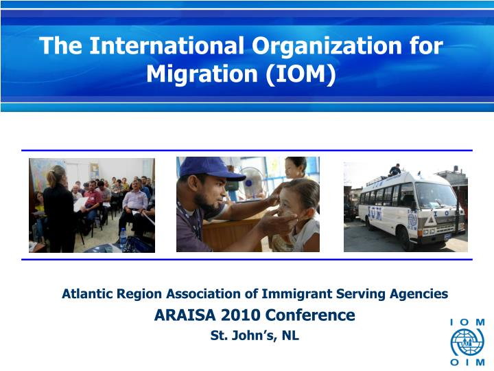 Atlantic region association of immigrant serving agencies araisa 2010 conference st john s nl