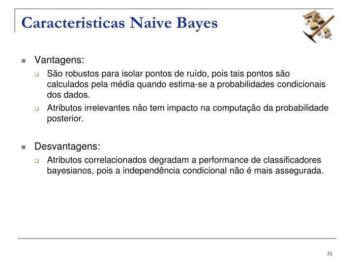 Caracteristicas Naive Bayes