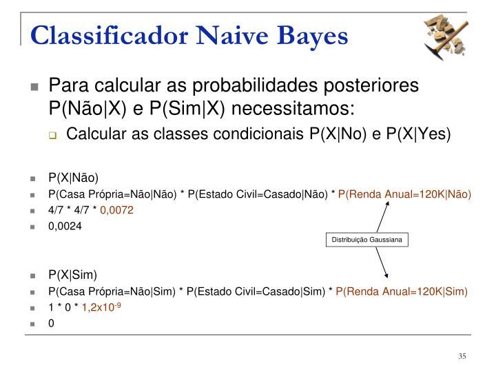 Classificador Naive Bayes
