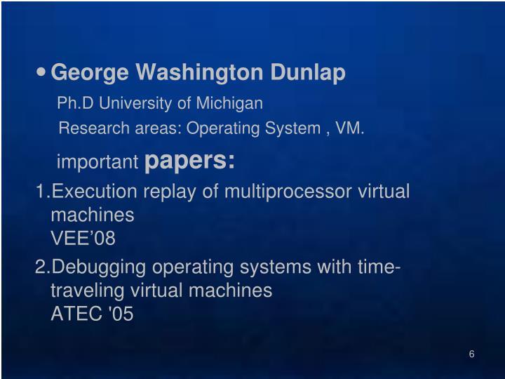 George Washington Dunlap
