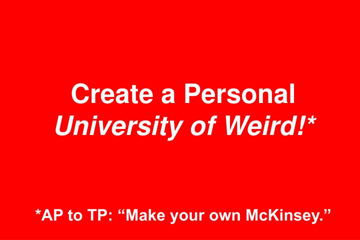 Create a Personal