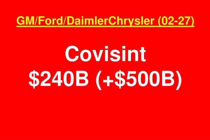 GM/Ford/DaimlerChrysler (02-27)