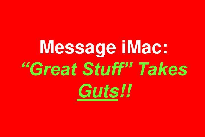 Message iMac: