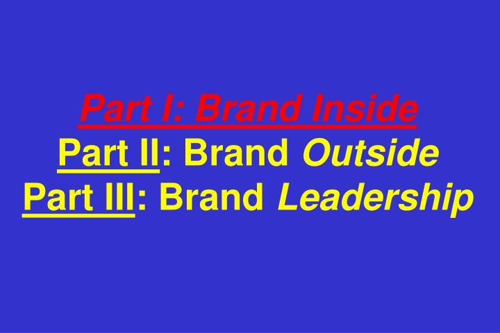 Part I: Brand Inside