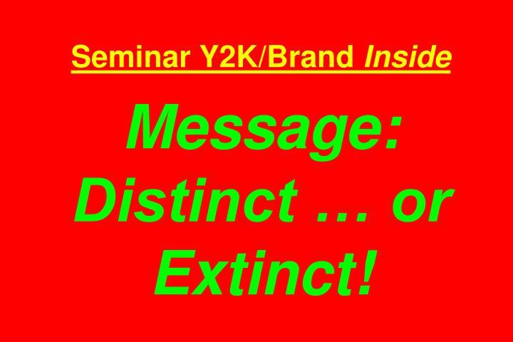 Seminar Y2K/Brand