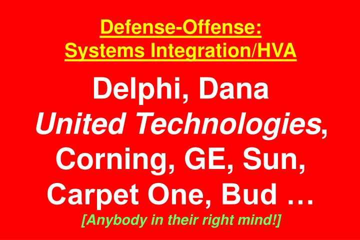 Defense-Offense: