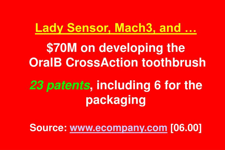 Lady Sensor, Mach3, and …