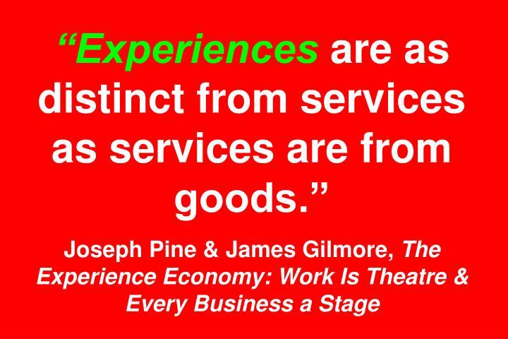"""""""Experiences"""