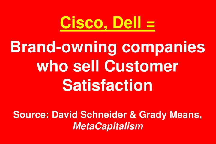 Cisco, Dell =