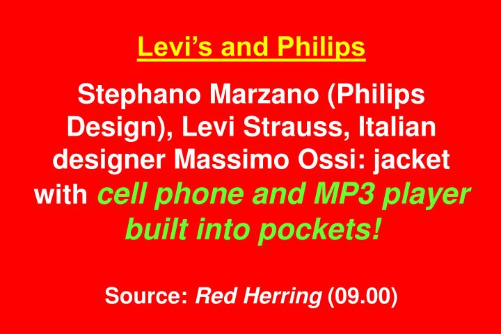 Levi's and Philips