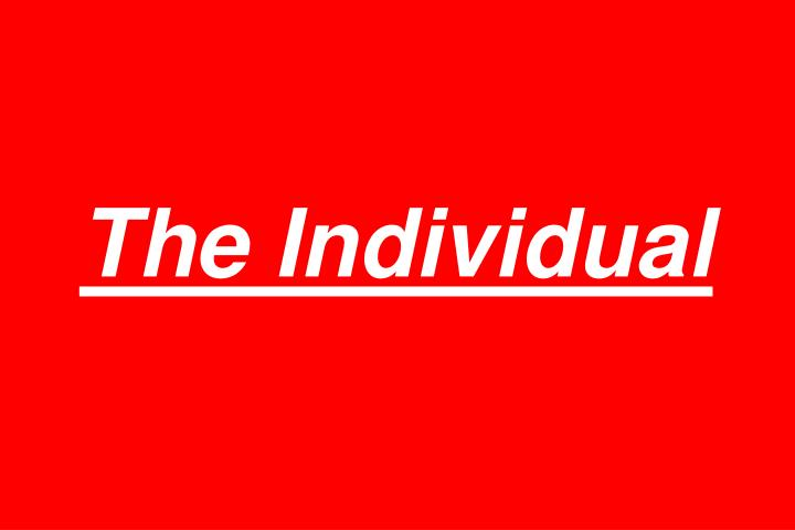 The Individual