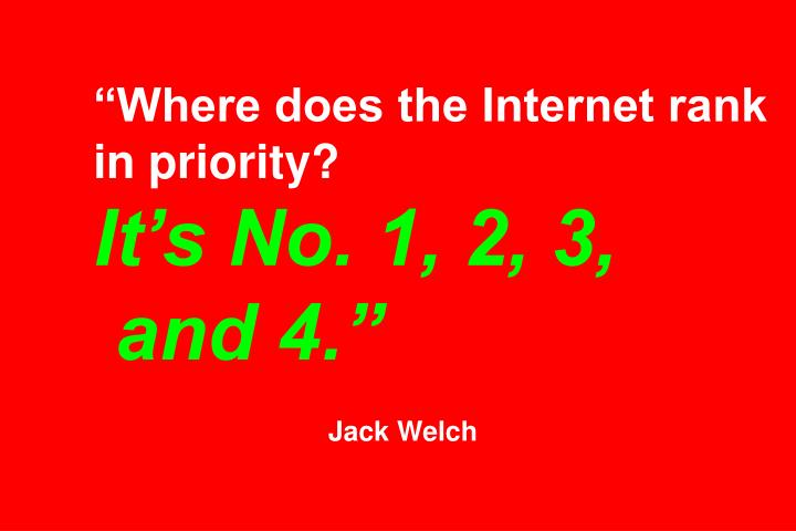 """Where does the Internet rank in priority?"
