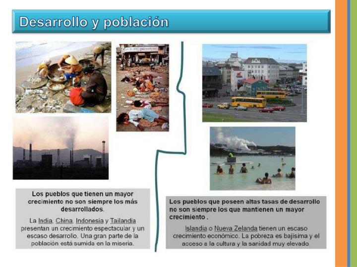 Desarrollo y población