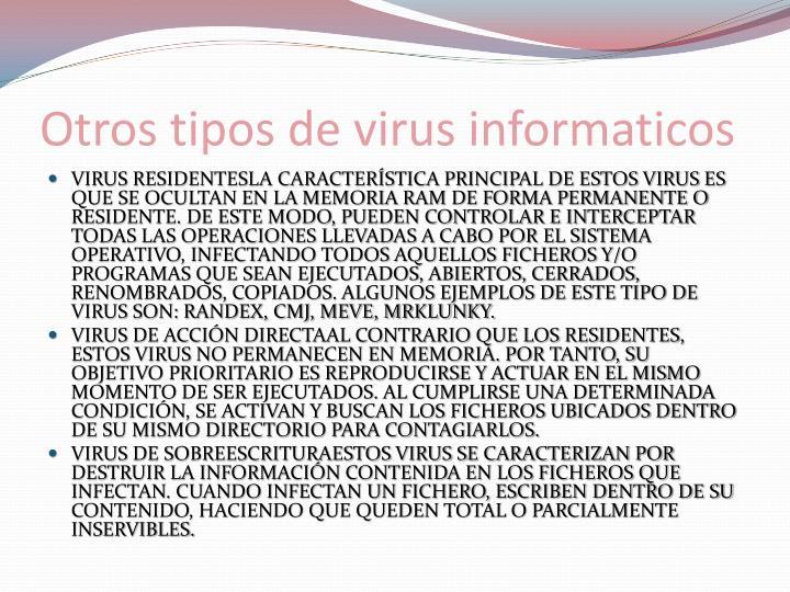Otros tipos de virus