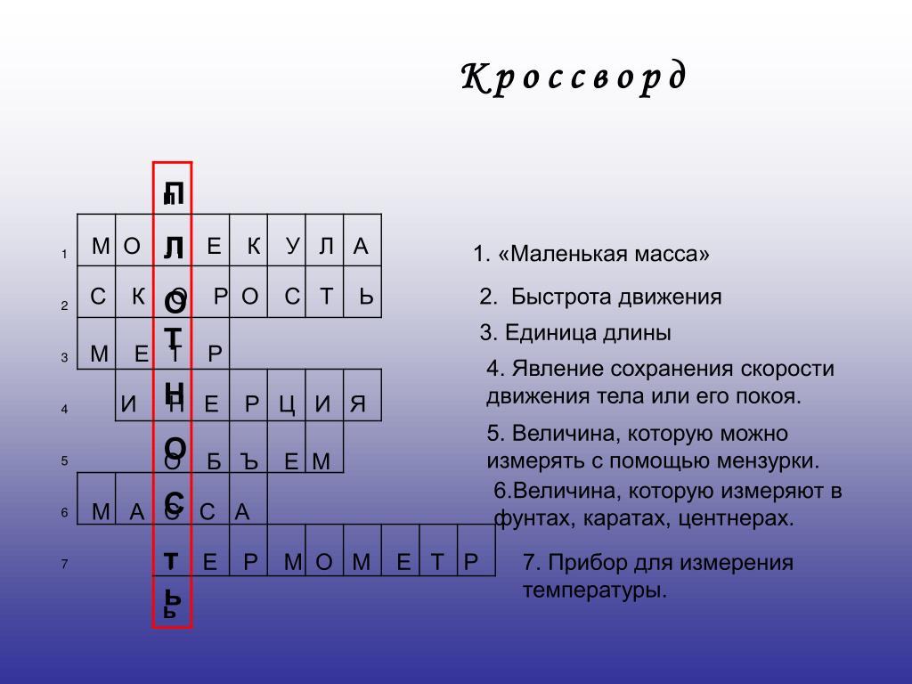 Обнаженное Тело Кроссворд