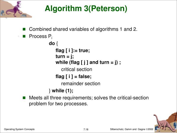 Algorithm 3(Peterson)