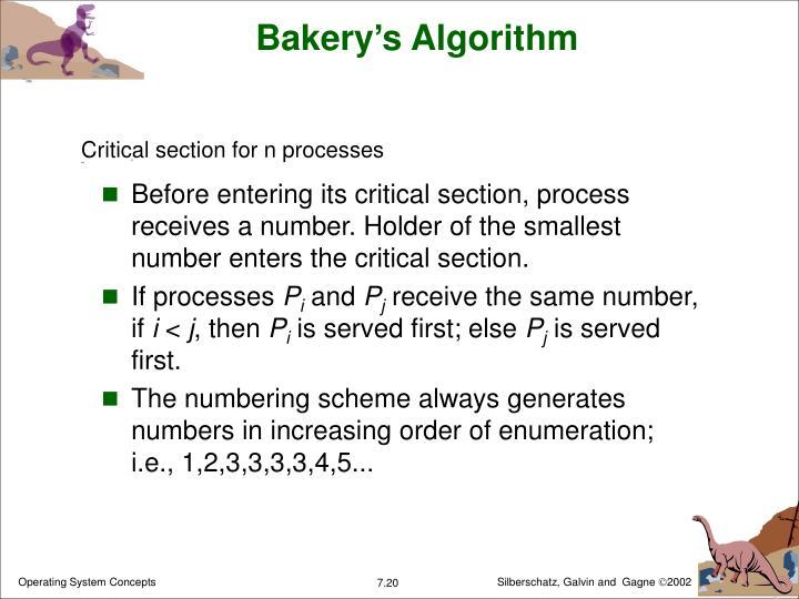 Bakery's Algorithm