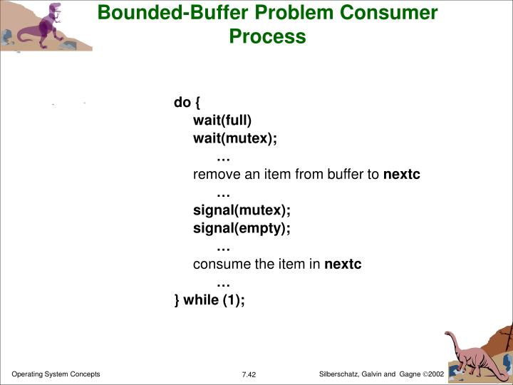 Bounded-Buffer Problem Consumer Process