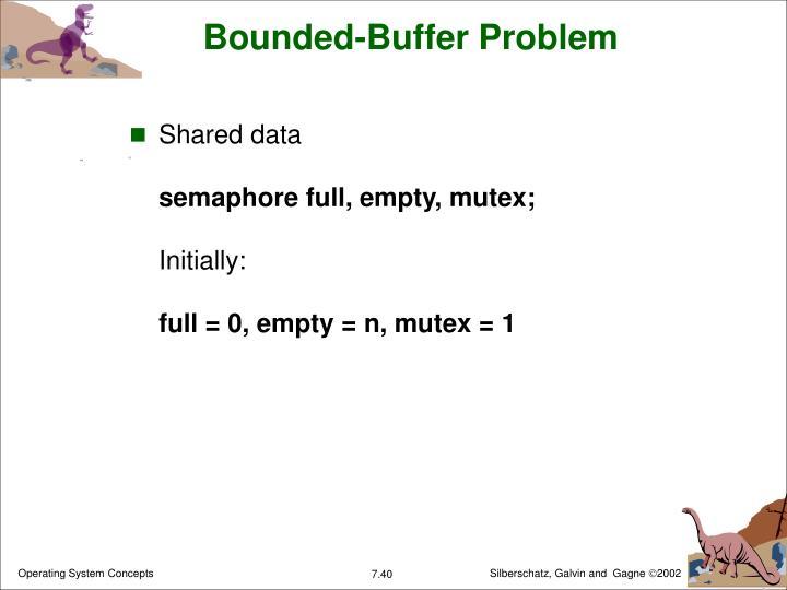 Bounded-Buffer Problem