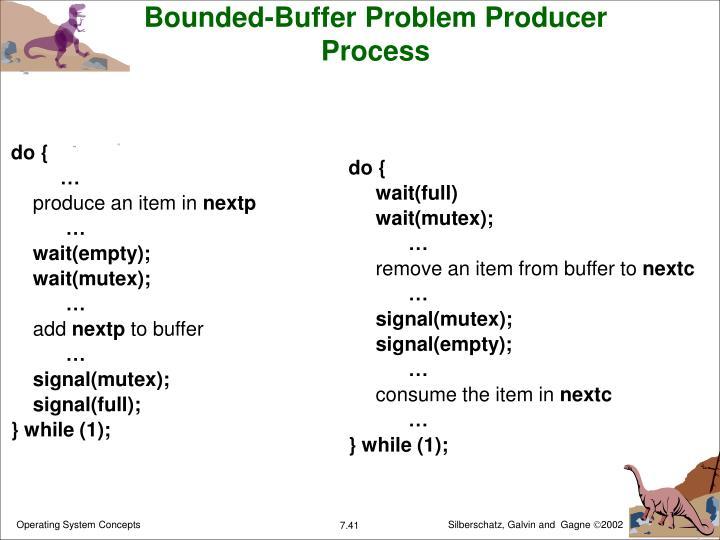 Bounded-Buffer Problem Producer Process