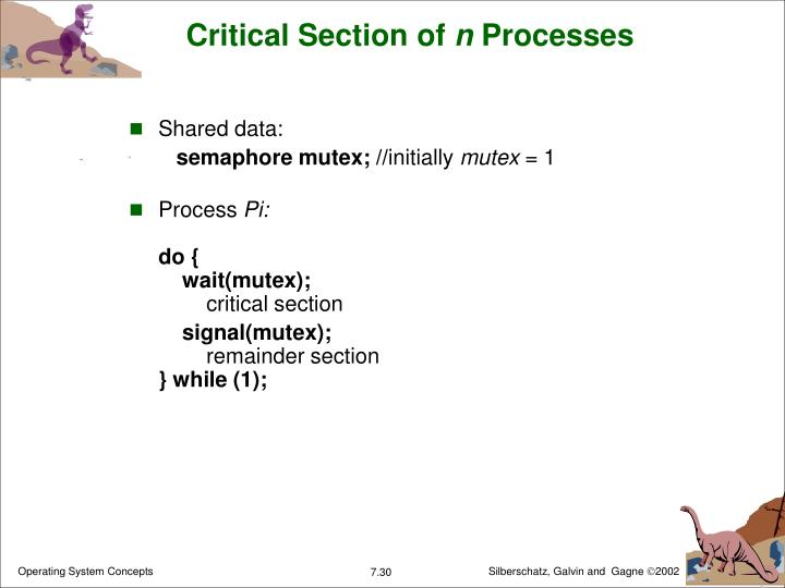 Critical Section of