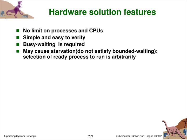 Hardware solution features