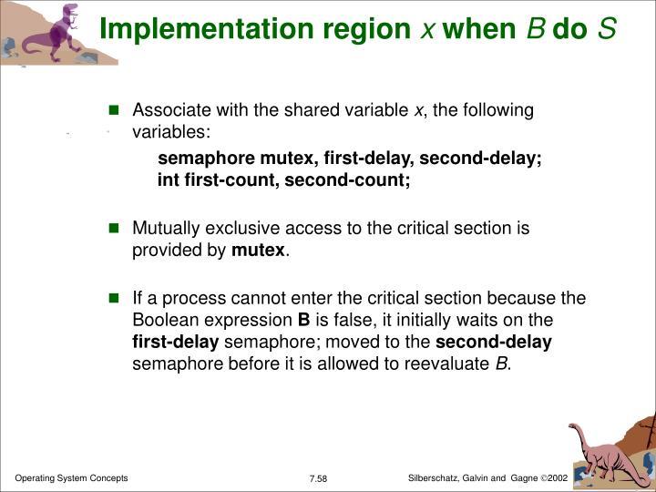Implementation region
