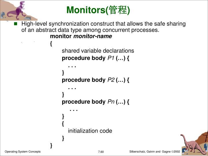 Monitors(