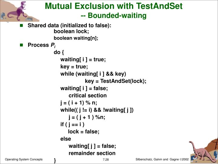 Mutual Exclusion with TestAndSet