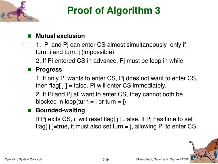 Proof of Algorithm 3