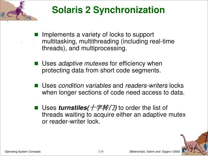 Solaris 2 Synchronization