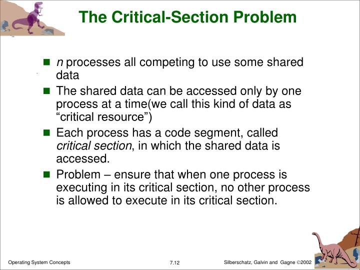 The Critical-Section Problem