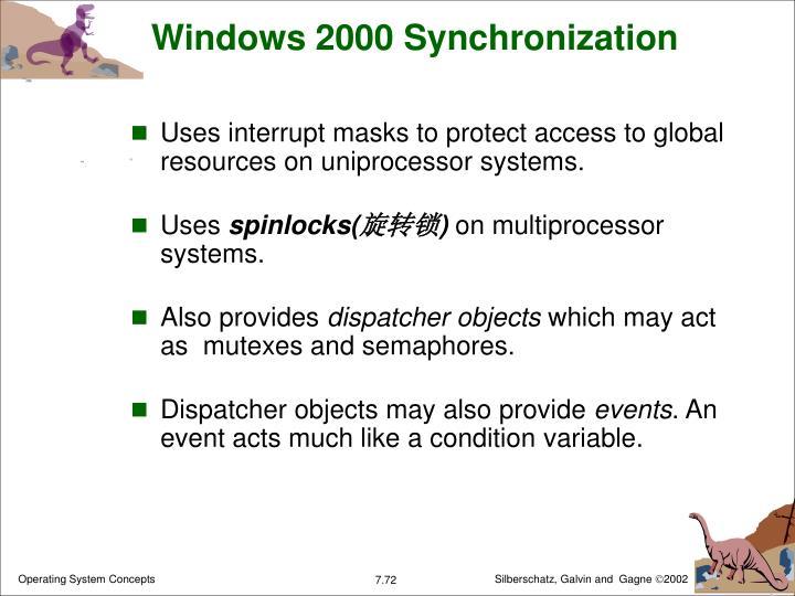 Windows 2000 Synchronization
