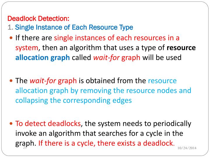 Deadlock Detection: