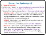 recovery from deadlock contd