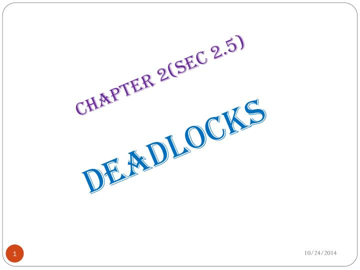 Chapter 2(sec 2.5)