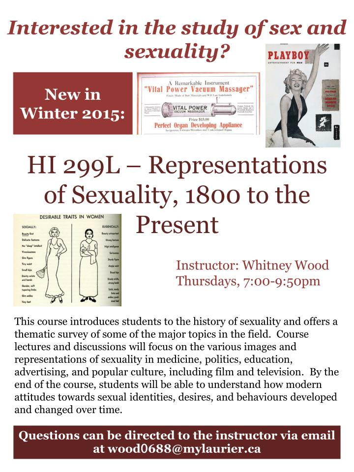 Interested in the study of sex and sexuality?