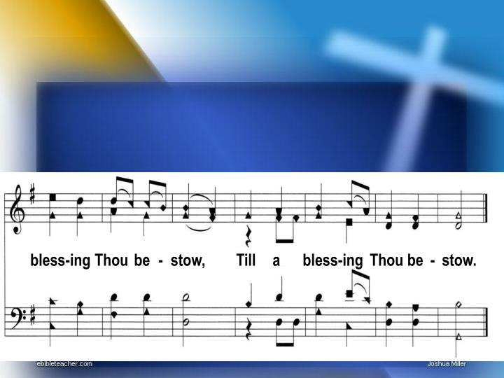 bless-ing Thou
