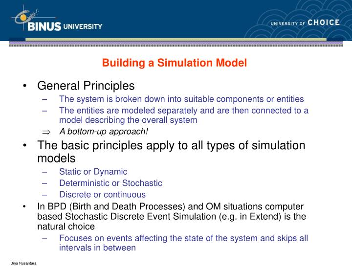 Building a Simulation Model